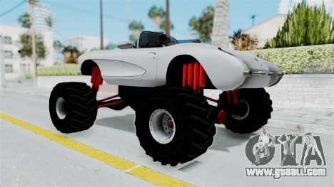 Chevrolet Corvette C1 1962 Monster Truck for GTA San Andreas left view