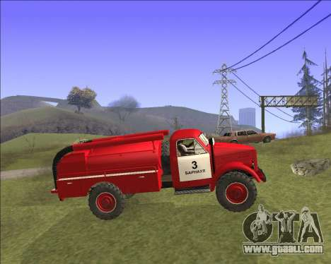 GAZ 63 Fire engine for GTA San Andreas left view