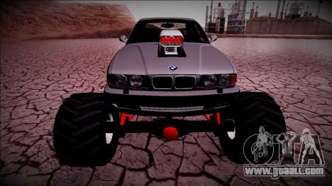 BMW M5 E34 Monster Truck for GTA San Andreas back view