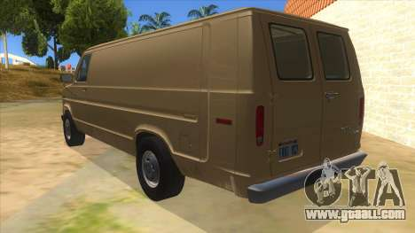Ford E-250 Extended Van 1979 for GTA San Andreas back left view
