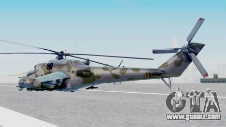 Mi-24V Ukraine Air Force 010 for GTA San Andreas left view