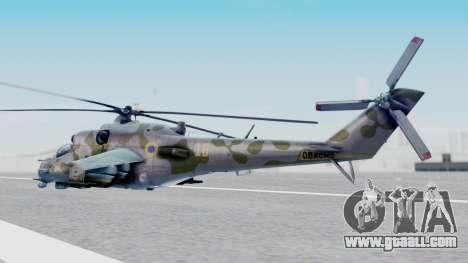 Mi-24V Ukraine Air Force 010 for GTA San Andreas left view