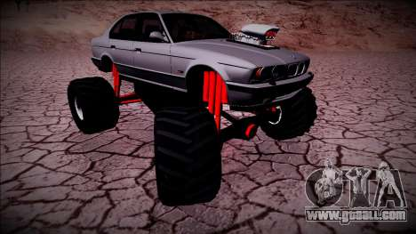 BMW M5 E34 Monster Truck for GTA San Andreas right view