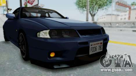 Nissan Skyline R33 GT-R V-Spec 1995 for GTA San Andreas upper view