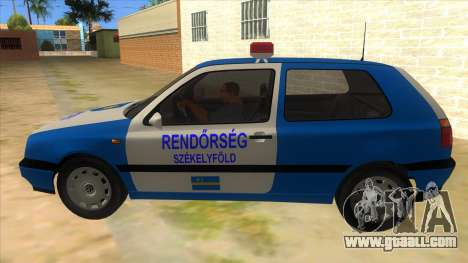 Volkswagen Golf 3 Police for GTA San Andreas left view