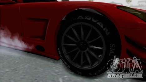Mercedes-Benz SLS AMG GT3 PJ6 for GTA San Andreas back view
