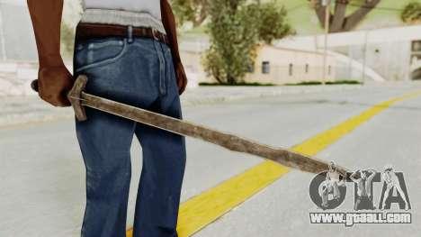 Skyrim Iron Long Sword for GTA San Andreas second screenshot