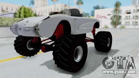 Chevrolet Corvette C1 1962 Monster Truck for GTA San Andreas back left view