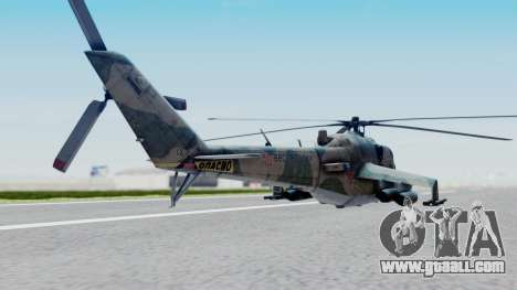 Mi-24V Russian Air Force 46 for GTA San Andreas left view
