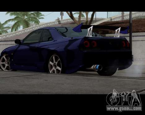 Nissan R33 GT-R Tunable for GTA San Andreas left view