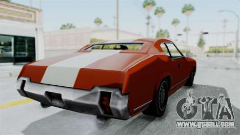 GTA Vice City - Sabre Turbo (Unsprayable) for GTA San Andreas right view