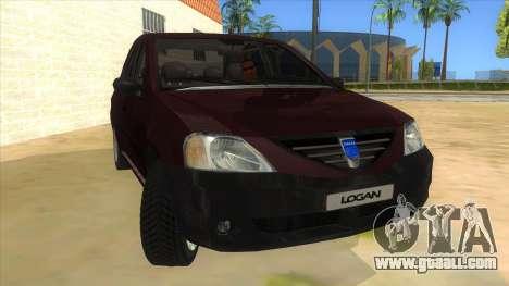 Dacia Logan V2 Final for GTA San Andreas