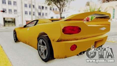 GTA 3 Infernus for GTA San Andreas back left view