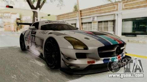 Mercedes-Benz SLS AMG GT3 PJ3 for GTA San Andreas bottom view