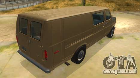 Ford E-250 Extended Van 1979 for GTA San Andreas right view
