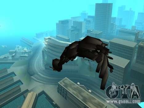 The Dark Knight Rises BAT v1 for GTA San Andreas upper view