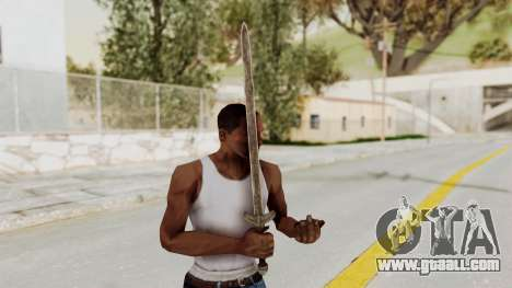 Skyrim Iron Long Sword for GTA San Andreas third screenshot
