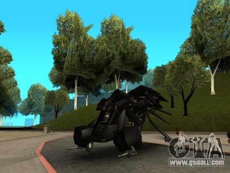 The Dark Knight Rises BAT v1 for GTA San Andreas back view