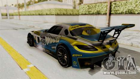 Mercedes-Benz SLS AMG GT3 PJ3 for GTA San Andreas inner view