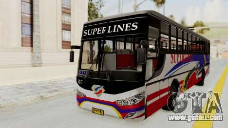 Superlines Ordinary Bus for GTA San Andreas back left view
