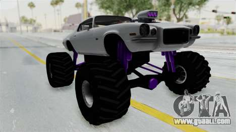 Chevrolet Camaro Z28 1970 Monster Truck for GTA San Andreas right view