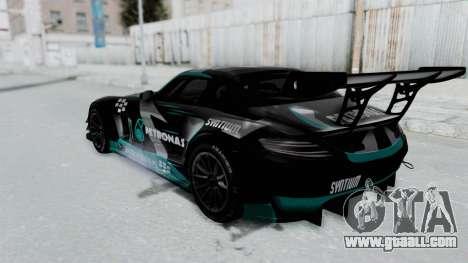 Mercedes-Benz SLS AMG GT3 PJ6 for GTA San Andreas upper view