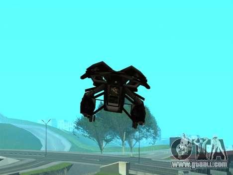 The Dark Knight Rises BAT v1 for GTA San Andreas bottom view