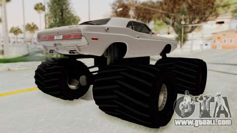 Dodge Challenger 1970 Monster Truck for GTA San Andreas left view