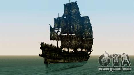 Flying Dutchman 3D for GTA San Andreas back left view
