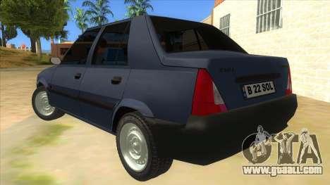 Dacia Solenza V2 for GTA San Andreas back left view