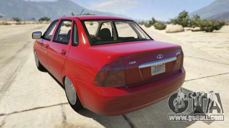 GTA 5 Lada Priora v.2.3 rear left side view
