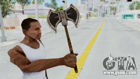 Skyrim Iron Battle Axe for GTA San Andreas third screenshot