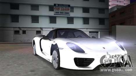 2016 Porsche 918 Spyder Weissach Package for GTA Vice City inner view