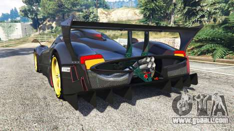 GTA 5 Pagani Zonda R rear left side view