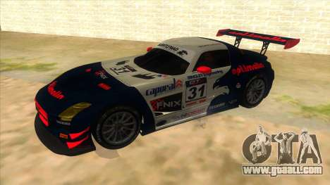 Mercedes Benz SLS AMG GT3 for GTA San Andreas inner view
