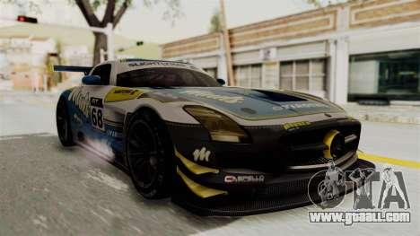 Mercedes-Benz SLS AMG GT3 PJ3 for GTA San Andreas back view