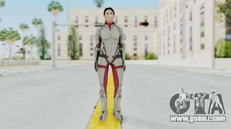 ME 1 Ashley Williams Default White Armor for GTA San Andreas second screenshot