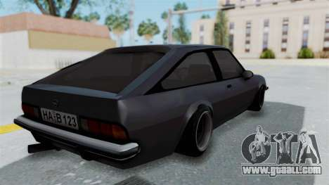 Opel Manta B1 CC for GTA San Andreas left view