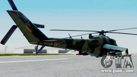 Mi-24V Sri-Lanka Air Force CH621 for GTA San Andreas left view