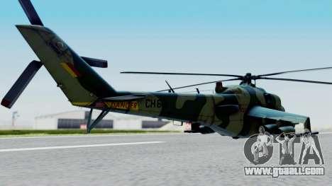 Mi-24V Sri-Lanka Air Force CH621 for GTA San Andreas left view