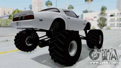 Pontiac Firebird Trans Am Monster Truck 1980 for GTA San Andreas
