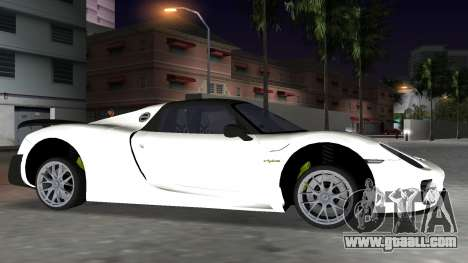 2016 Porsche 918 Spyder Weissach Package for GTA Vice City back view