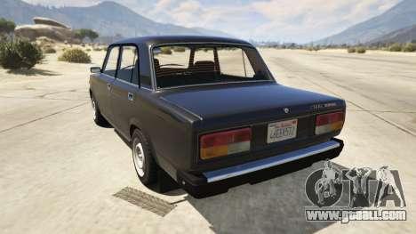 GTA 5 Lada 2107 rear left side view