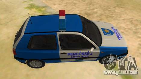 Volkswagen Golf 3 Police for GTA San Andreas inner view
