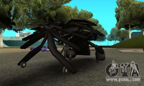 The Dark Knight Rises BAT v1 for GTA San Andreas right view