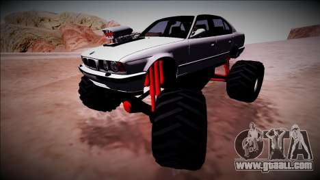 BMW M5 E34 Monster Truck for GTA San Andreas upper view