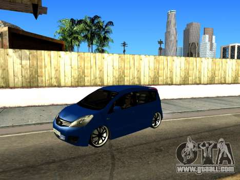 Nissan Note KURMIN StreetRacer for GTA San Andreas