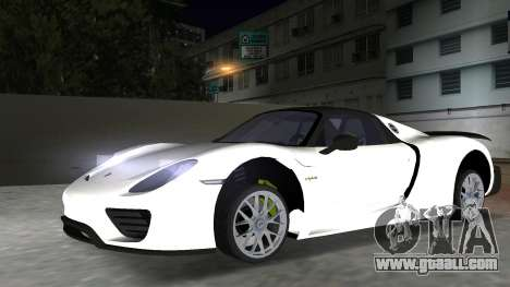 2016 Porsche 918 Spyder Weissach Package for GTA Vice City