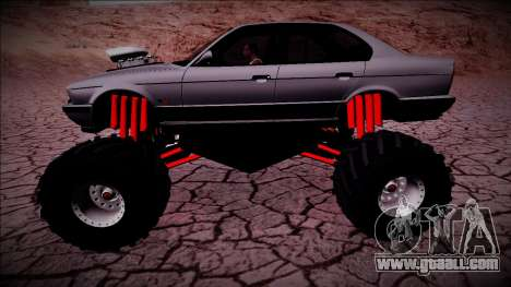 BMW M5 E34 Monster Truck for GTA San Andreas left view
