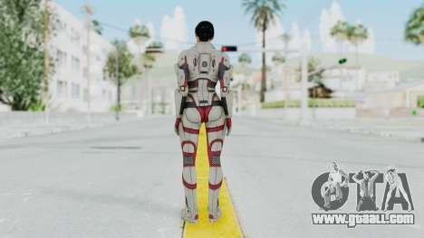 ME 1 Ashley Williams Default White Armor for GTA San Andreas third screenshot